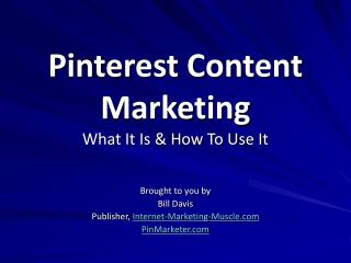 Pinterest Content Marketing What It Is & How To Use It