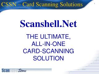 CSSN – Card Scanning Solutions