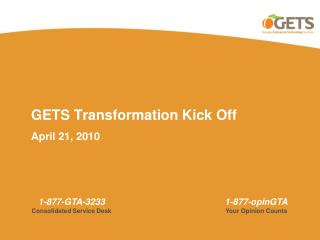 GETS Transformation Kick Off