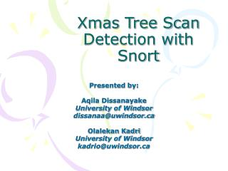 Xmas Tree Scan Detection with Snort