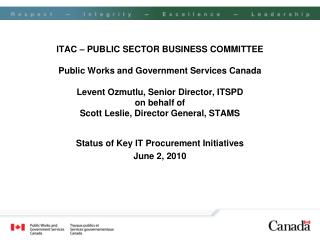 Status of Key IT Procurement Initiatives June 2, 2010
