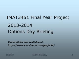IMAT3451 Final Year Project