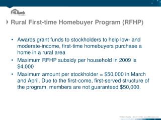 Rural First-time Homebuyer Program (RFHP)