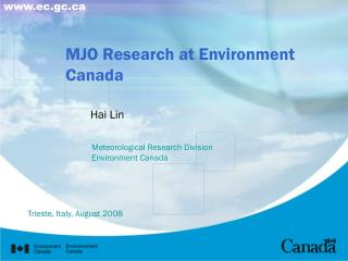 MJO Research at Environment Canada