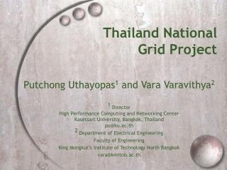 Thailand National  Grid Project