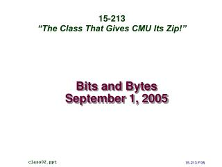 Bits and Bytes September 1, 2005