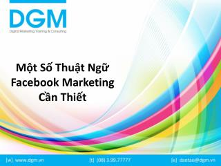 M?t s? thu?t ng? Facebook Marketing c?n thi?t