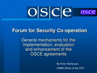 Forum for Security Co-operation