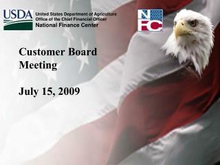 Customer Board Meeting July 15, 2009