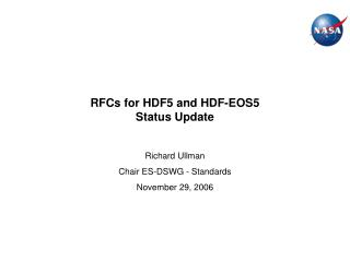 RFCs for HDF5 and HDF-EOS5 Status Update