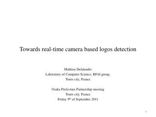 Towards real-time camera based logos detection