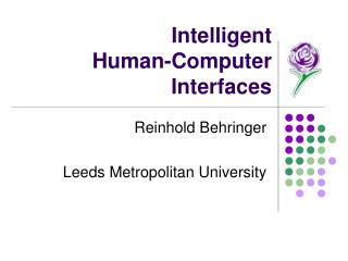 Intelligent  Human-Computer Interfaces