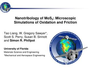 Nanotribology of MoS 2 : Microscopic Simulations of Oxidation and Friction