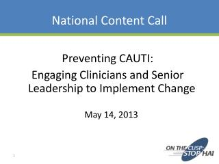 National Content Call