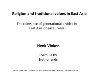 Religion and traditional values in East Asia