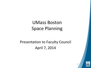 UMass Boston Space Planning