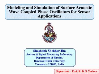Modeling and Simulation of Surface Acoustic Wave Coupled Phase Oscillators for Sensor Applications