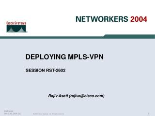 DEPLOYING MPLS-VPN