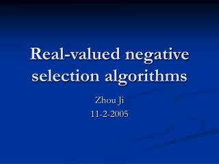 Real-valued negative selection algorithms