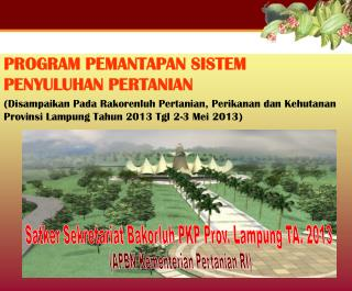 PROGRAM  PEMANTAPAN SISTEM PENYULUHAN  PERTANIAN