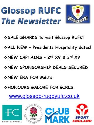 Glossop  RUFC The Newsletter