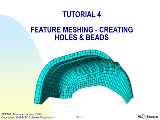 TUTORIAL 4 FEATURE MESHING - CREATING HOLES & BEADS
