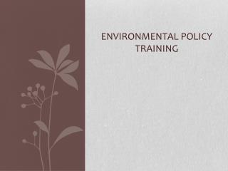 Environmental Policy Training