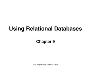 Using Relational Databases