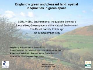 England's green and pleasant land: spatial inequalities in green space