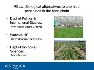 RELU: Biological alternatives to chemical pesticides in the food chain