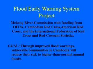 Flood Early Warning System Project