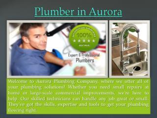 Plumber in Aurora