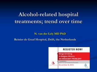 Alcohol-related hospital treatments; trend over time