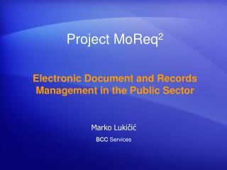 Project MoReq 2
