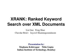 XRANK: Ranked Keyword Search over XML Documents