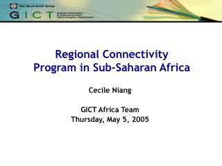 Regional Connectivity  Program in Sub-Saharan Africa