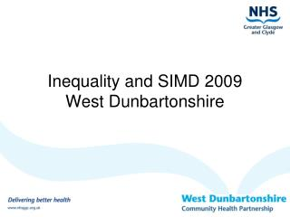Inequality and SIMD 2009 West Dunbartonshire