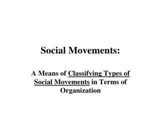 Social Movements: