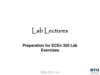Lab Lectures