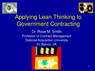 Applying Lean Thinking to Government Contracting
