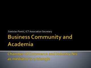 Business Community and Academia