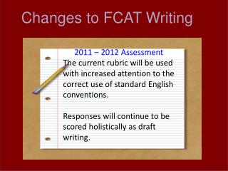 Changes to FCAT Writing