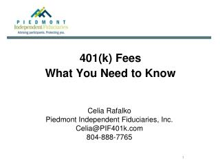 401(k) Fees What You Need to Know