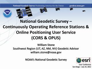 National Geodetic Survey –  Continuously Operating Reference Stations &