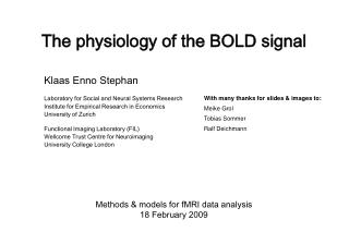 The physiology of the BOLD signal