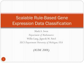 Scalable Rule-Based Gene Expression Data Classification