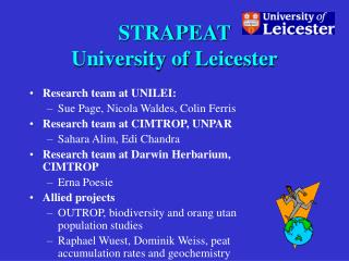 STRAPEAT  University of Leicester