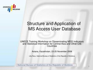 Structure and Application of  MS Access User Database