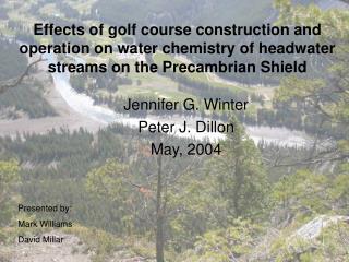 Jennifer G. Winter Peter J. Dillon May, 2004