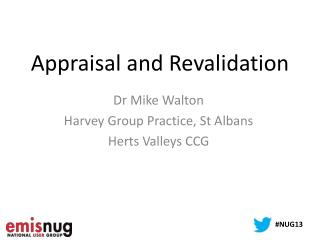 Appraisal and Revalidation